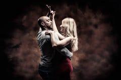 O par novo dança a salsa do Cararibe Imagens de Stock Royalty Free
