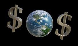 $O$ para a terra do planeta Fotos de Stock