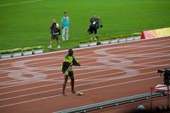 O parafuso de Usain comemora a vitória Fotografia de Stock Royalty Free