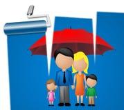 O Parenting da família significa a prole e os parentes das crianças ilustração do vetor