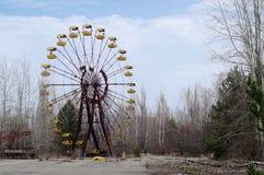 O parkin Pripyat das crianças, Chernobyl Fotos de Stock