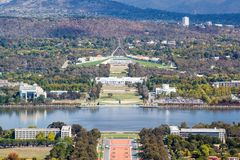 O parlamento abriga em Canberra imagens de stock