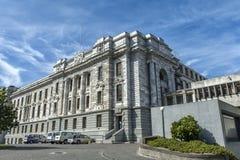 O parlamento abriga, uma de construções do parlamento de Nova Zelândia em Wellington Imagens de Stock Royalty Free