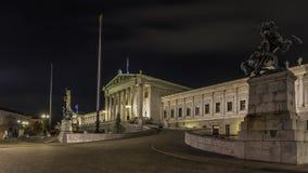 O parlamento austríaco em Viena fotografia de stock royalty free