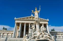 O parlamento austríaco o 13 de outubro em Viena imagens de stock