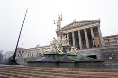 O parlamento austríaco, Viena, Áustria Fotos de Stock Royalty Free