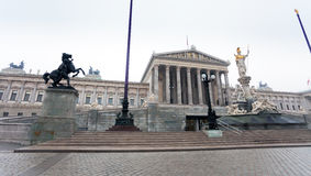 O parlamento austríaco, Viena, Áustria Fotos de Stock