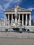 O parlamento austríaco Viena Pallas Athena Imagem de Stock Royalty Free