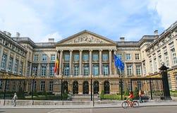 O parlamento belga fotografia de stock