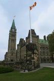 O parlamento canadense em Ottawa imagem de stock