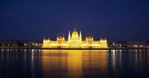 O parlamento de Budapest da noite Imagens de Stock Royalty Free