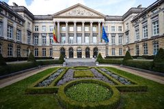 O parlamento de Bélgica imagens de stock royalty free