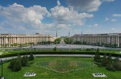 O parlamento de Bucareste esquadra Fotos de Stock Royalty Free