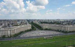 O parlamento de Bucareste esquadra Foto de Stock