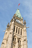 O parlamento de Canadá em Ottawa Fotos de Stock