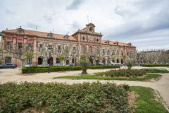 O parlamento de Catalonia, construção, parque, parc de la ciutadella, B fotografia de stock