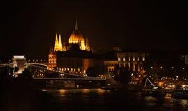 O parlamento de Hungria em Budapest Imagens de Stock Royalty Free