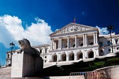O parlamento de Lisboa Fotografia de Stock Royalty Free