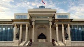 O parlamento de Mongolia Ulaanbataar - Ulan Bator Imagem de Stock Royalty Free