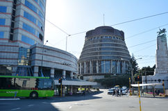 O parlamento de NZ na cidade de Wellington foto de stock royalty free