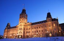 O parlamento de Quebeque imagens de stock royalty free