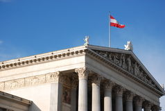 O parlamento de Viena Fotos de Stock Royalty Free