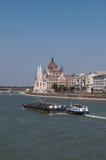 O parlamento e Danúbio húngaros Imagem de Stock