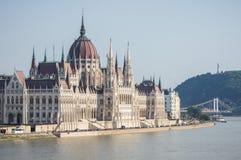 O parlamento em Budapest, Hungria Foto de Stock Royalty Free