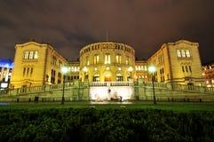 O parlamento em Oslo Fotos de Stock