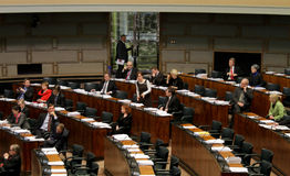 O parlamento finlandês Fotografia de Stock Royalty Free