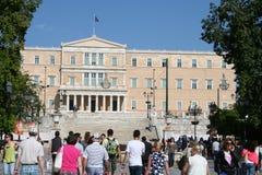 O parlamento grego, Atenas foto de stock