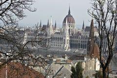 O parlamento húngaro. Imagem de Stock