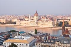 O parlamento húngaro, Budapest, Hungria Fotos de Stock Royalty Free