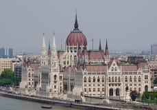 O parlamento húngaro em Budapest Imagem de Stock