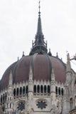 O parlamento húngaro abobada Imagens de Stock Royalty Free