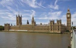 O parlamento Londres de Westminster Fotografia de Stock