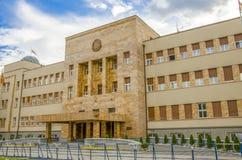 O parlamento macedônio em Skopje, Macedônia imagens de stock royalty free