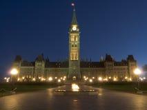 O parlamento no alvorecer Fotografia de Stock
