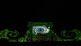 O parlamento romeno é a tela para o Vide internacional Imagens de Stock Royalty Free