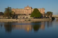 O parlamento sueco Riksdagshuset, Éstocolmo, Suécia Imagens de Stock Royalty Free