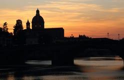 O Parochia San Frediano em Cestello em Florença, Itália Foto de Stock Royalty Free