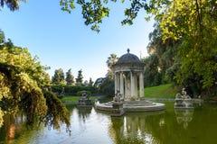 O parque bonito da casa de campo Pallavicini, nos joelhos, Itália Foto de Stock