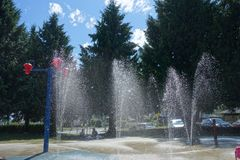 O parque da água é temporada de verão aberta Imagem de Stock Royalty Free