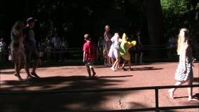 O parque da fonte de Petergof a maioria de divertimento interessante vídeos de arquivo