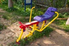 O parque da máquina do exercício em público Foto de Stock Royalty Free