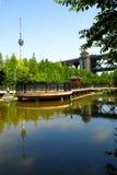 O parque da ponte Foto de Stock Royalty Free