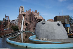 O parque de diversões, arquitetura moderna Foto de Stock Royalty Free