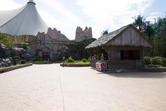 O parque de diversões, arquitetura moderna Foto de Stock