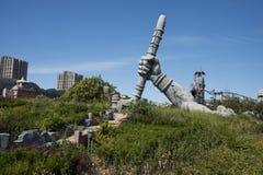 O parque de diversões, arquitetura moderna Fotografia de Stock Royalty Free