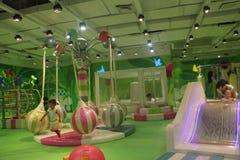 O parque de diversões das crianças verdes no ¼ ŒAsia de Œchinaï do ¼ do shenzhenï Imagens de Stock Royalty Free